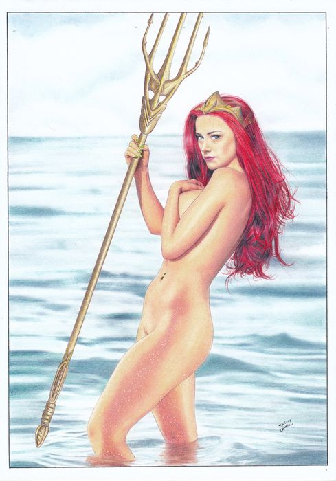 Aquaman - Original drawing - Mera - Amber Heard