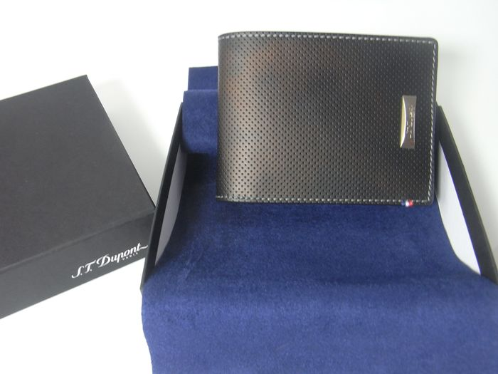 S.T. Dupont 6 credit cards holder, RFID,  Perforated Leather NEW - 170401 Portemonnee