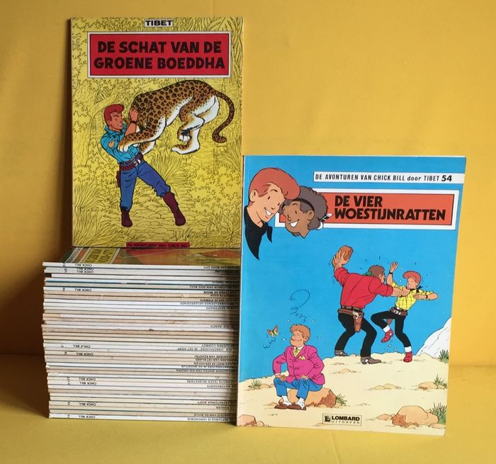 Chick Bill - 11 t/m 54 (-2) - Broché - Éditions diverses - (1974/1987)