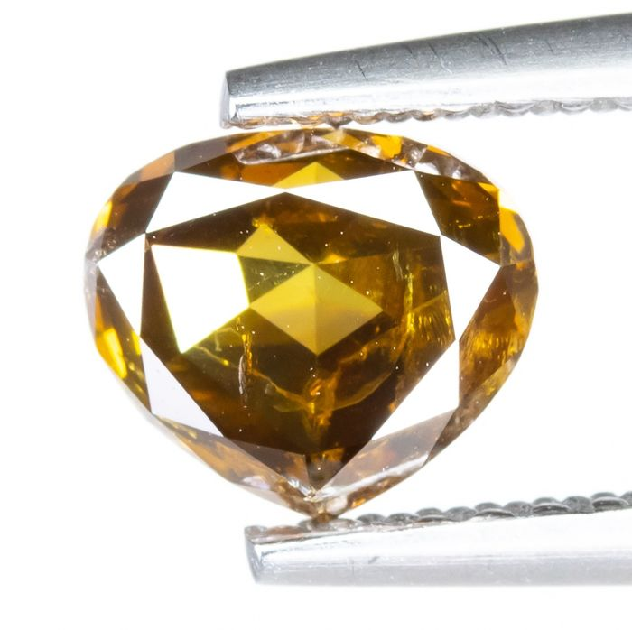 Diamond - 0.94 ct - Natural Fancy Yellowish Brown - I1  *NO RESERVE*
