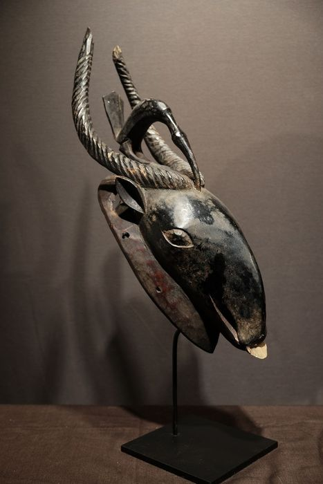 Bird Mask - Wood - Provenance Donald Taitt - Baoulé - Ivory Coast