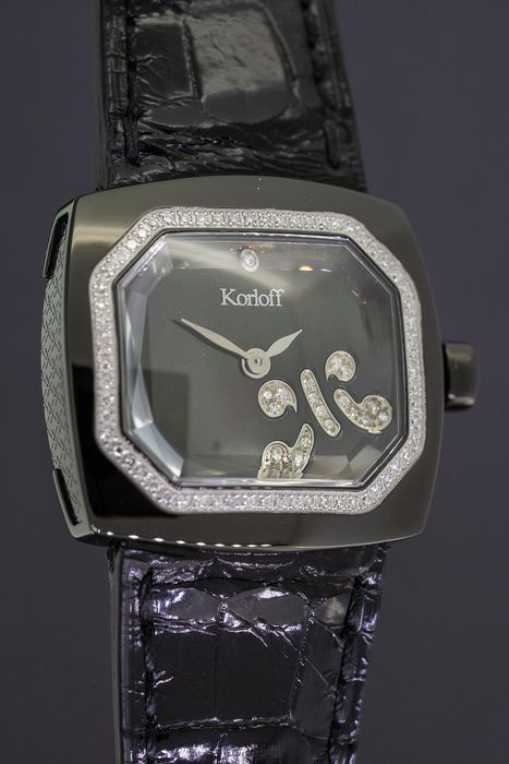 "Korloff - Diamonds for 0.33 Carat Transparence Black Swiss Made  - TKLB/2 ""NO RESERVE PRICE"" - Damen - BRAND NEW"