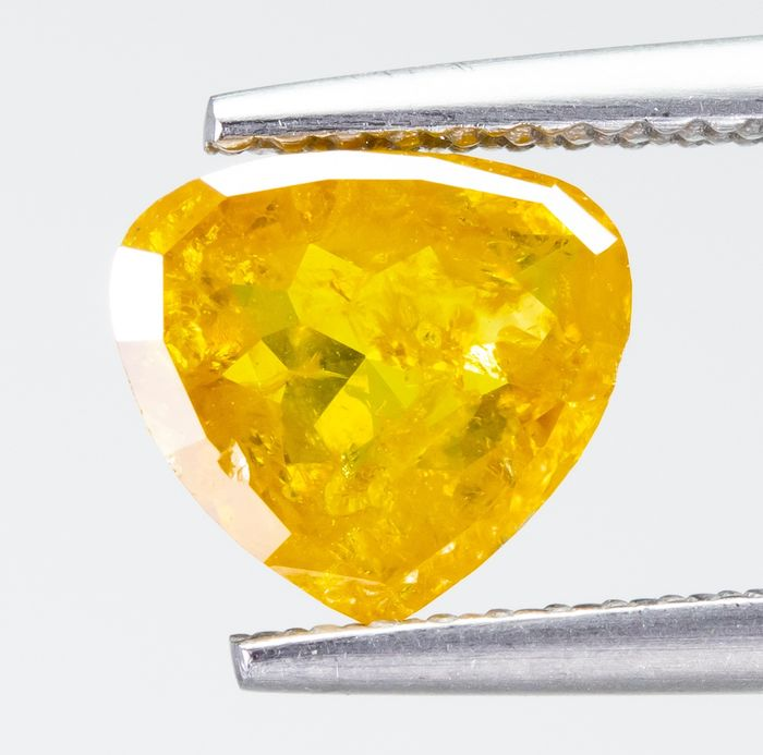 Diamond - 1.20 ct - Natural Fancy INTENSE Yellow - I3  *NO RESERVE*