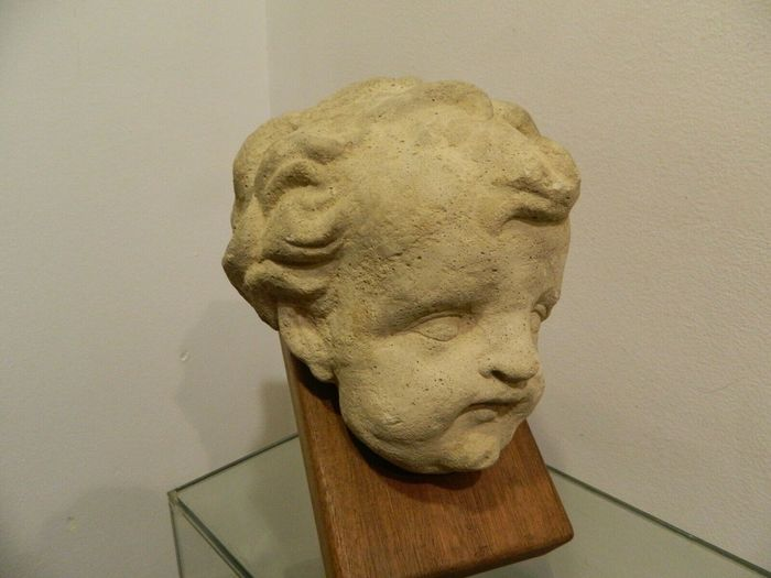 Angel head, high time - Renaissance Style - Stone (mineral stone) - mid 16th century