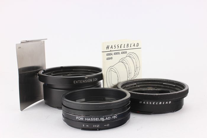 Hasselblad Tussenringen - 32E, 16 + filters + dark slide film magazine