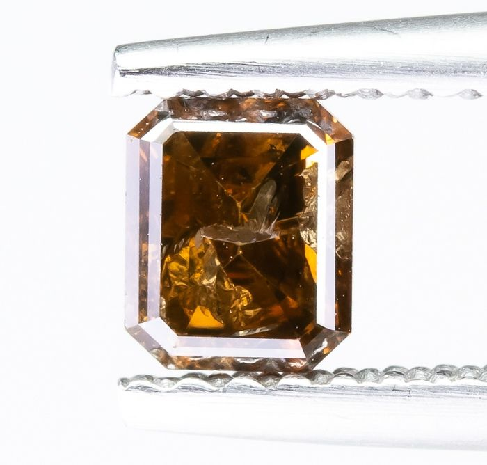 Diamante - 0.48 ct - Natural Fancy DEEP Orangy Brown - I2  *NO RESERVE*