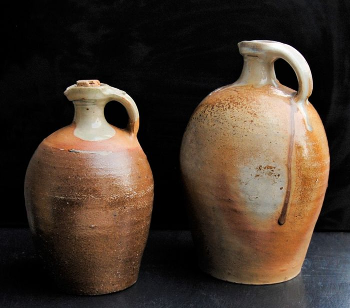 Oil / wine jars French antiques (2) - Earthenware