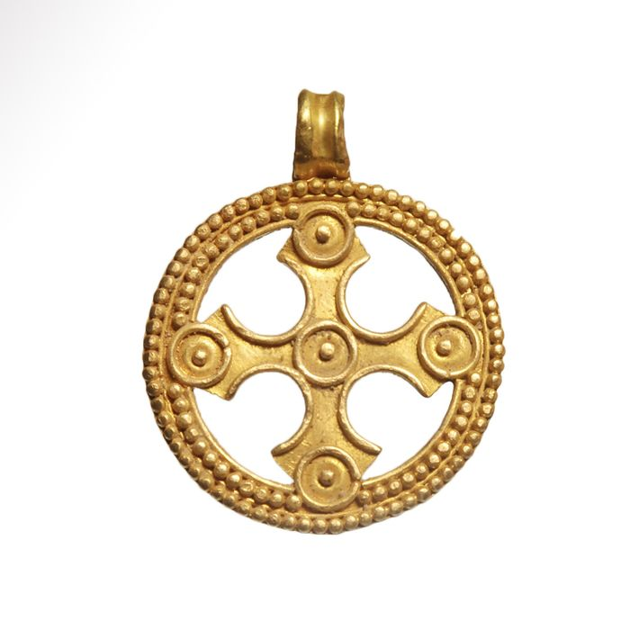 Viking Gold Open-work Pendant with Cross