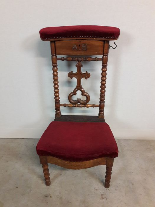 Chair - Velvet, Wood - 19th century