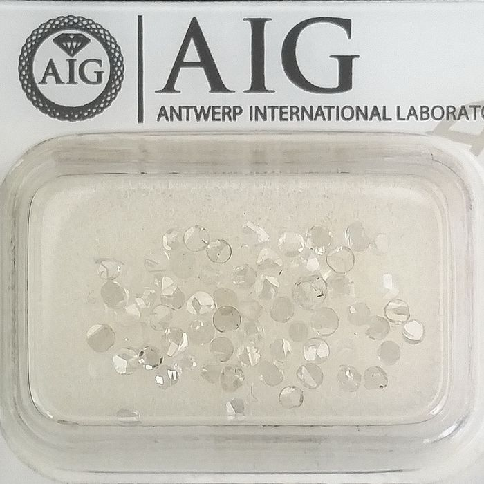 68 pcs Diamonds - 1.00 ct - Rose Cut - D (colourless), E, F - VS1, VS2, VVS1, VVS2, ***No Reserve Price***