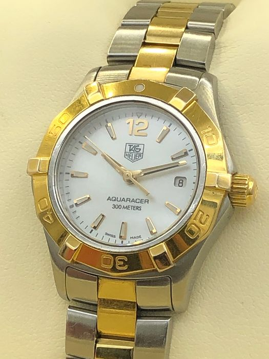 """TAG Heuer - """"NO RESERVE PRICE"""" Aquaracer White Mother Of Pearl Ladies - WAF1424 - Women - 2011-present"""