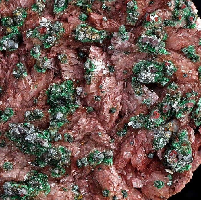 Wonderful big Cobaltoan Dolomite and Malachite crystals cluster from Morocco - 15.3×9.9×3.4 cm - 514 g