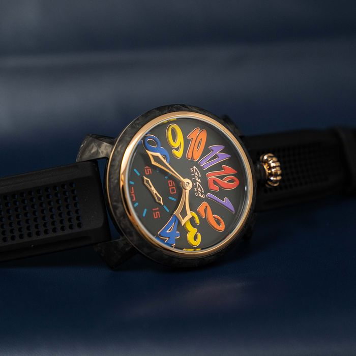 GaGà Milano - Mechanical Watch Carbon 48MM Rose Gold LIMITED EDITION Multi Colour - 6061.01S - Unisex - BRAND NEW