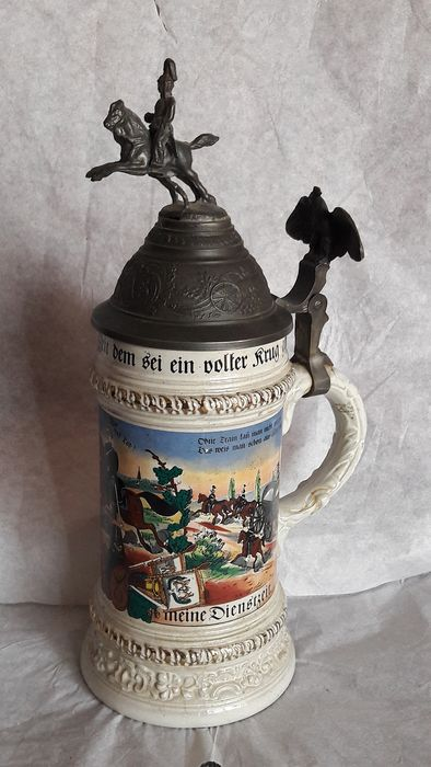 Gersit Gers - Big beer mug (1) - Ceramics, enamel, pewter