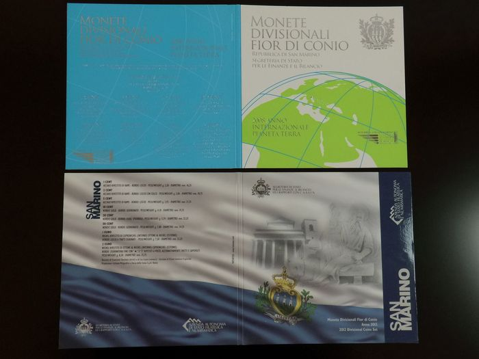 San Marino - 2 offizielle Euro KMS 2008 + 2012 - Limited Editionen - Silber