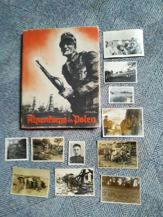 Germany - Alpine Corps in Poland with the original dust jacket - 1940