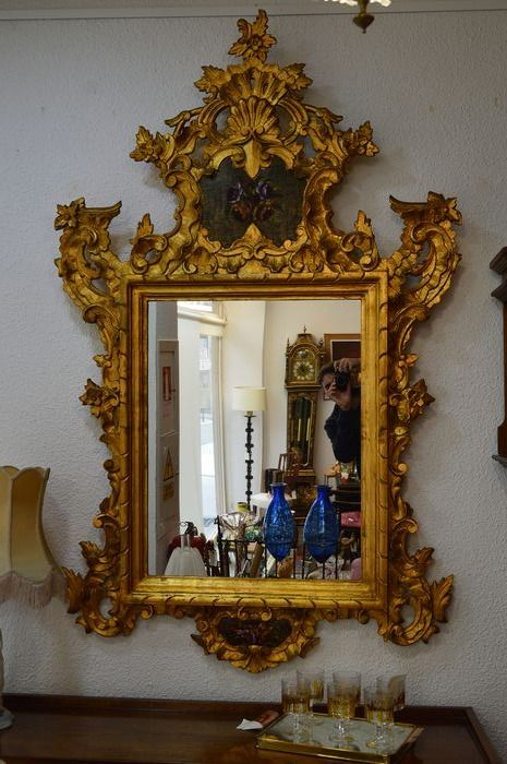 Mirror - Baroque style - Wood - 19th century