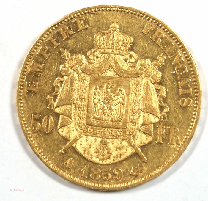 50 Francs 1859-A Napoléon III - Or