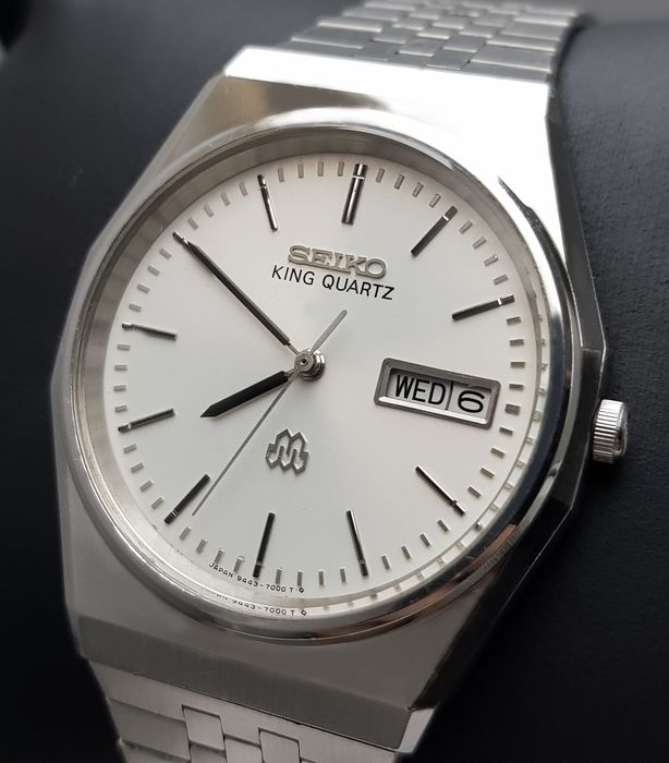 Seiko - 'NO RESERVE PRICE' KING QUARTZ Nacreous Dial SLIM RARE Vintage Men - 9443-700A - Men - 1980-1989