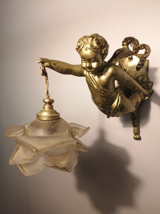 Wall light (3) - Rococo Style - Bronze (gilt/silvered/patinated/cold painted)