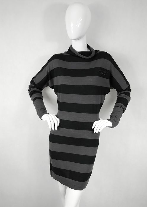 Jean Paul Gaultier - Striped Knit Dress - Size: M