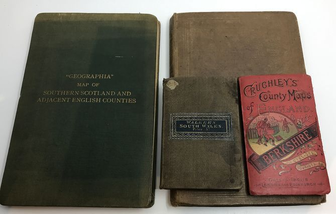 Various - Lot of four rare works with country maps of England - 1844/1903