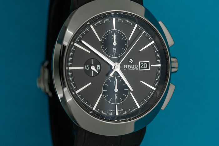 Rado - Automatic Chronograph 7750 D-Star Plasma LIMITED EDITION Black with Leather Strap - R15556155 - Άνδρες - BRAND NEW