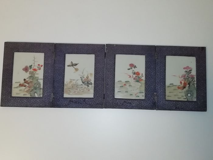 Porcelain tiles in album - Porcelain - China - Early 20th century