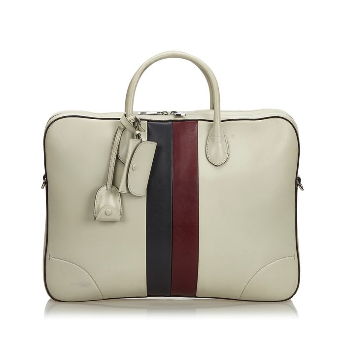 Gucci - Web Leather Briefcase Business Bag