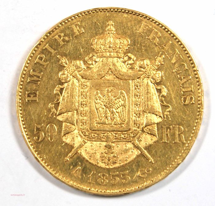 50 Francs 1855-A Napoléon III - Or