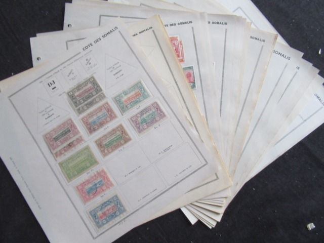 Old French colonies - Somalian Coast, advanced collection of stamps