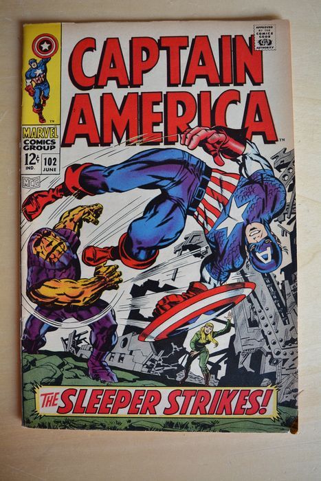 Captain America #102 - The Sleeper Strikes! - Prima edizione - (1968)