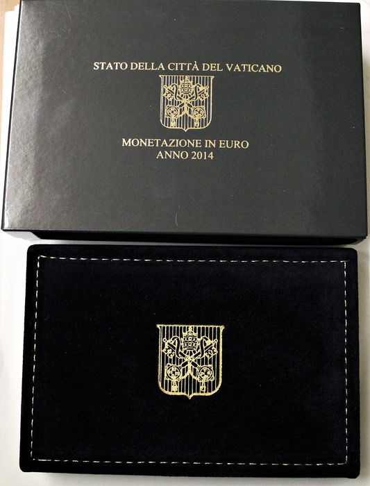 Vatican - Euro 2014 Divisionale proof con 50 euro in oro  - Or
