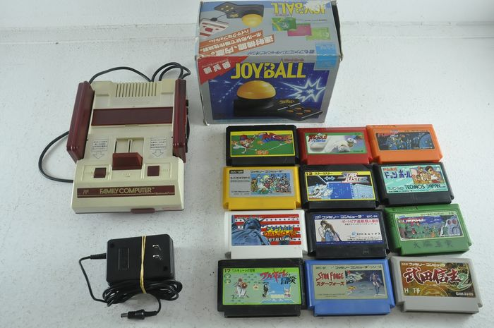 Nintendo Super Famicon (Jap Nes) - Famicom Console With Joy and 12 Games - Without original box