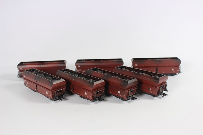 Märklin H0 - Freight carriage - Gravel wagons with short couplings - DB