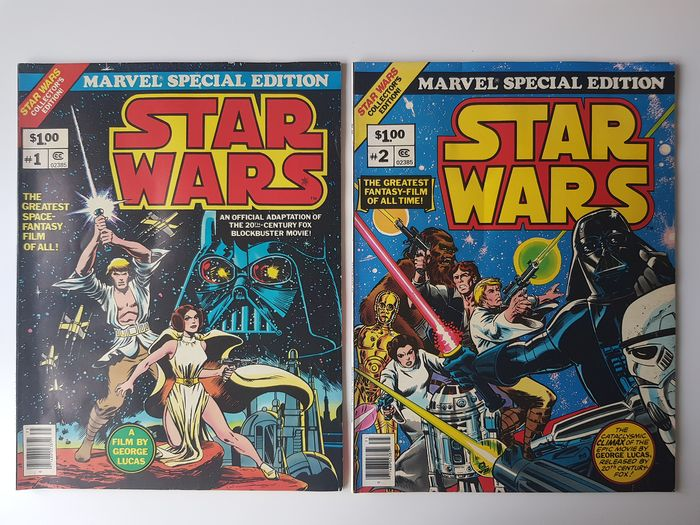 Star Wars - Marvel Treasury Special Edition #1 and #2 - Complete Set - First edition