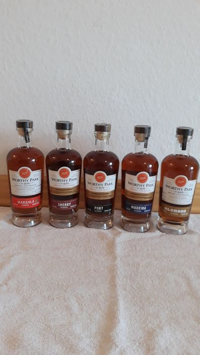 Worthy Park - Special Cask Releases: Marsala, Sherry, Port, Madeira, Oloroso - 70cl - 5 bottles