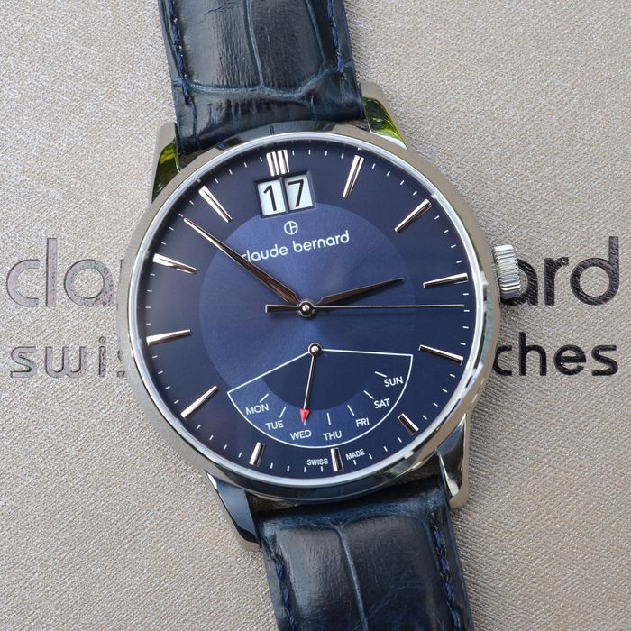 Claude Bernard - By Edox - Retrograde Blue  - 41001.3.BUIN - Herren - 2011-heute