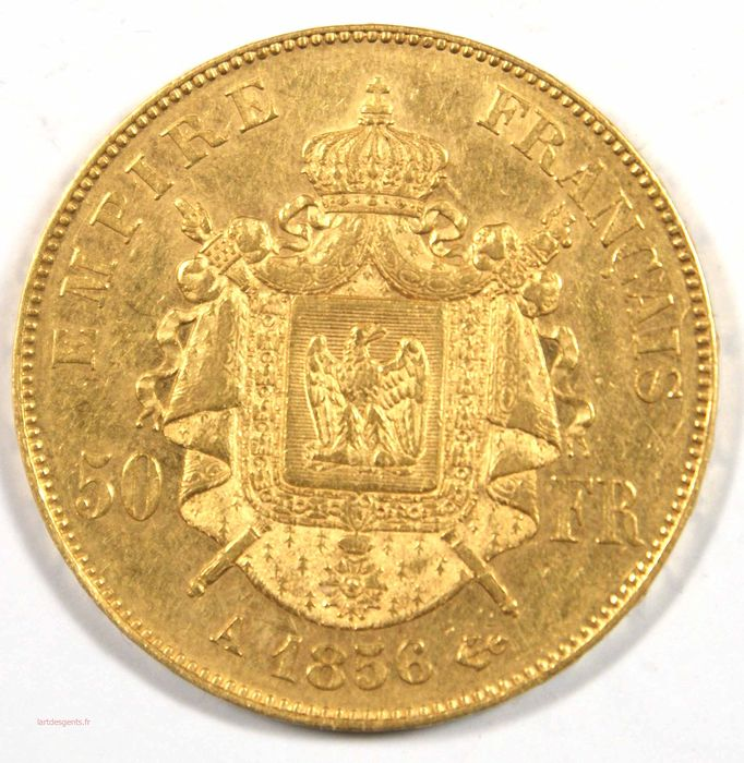 50 Francs 1856-A Napoléon III - Or