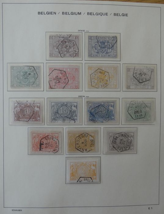 Belgium 1879/1987 - Extensive collection of railway stamps - OBP / COB TR1 - TR465 ( without TR48-57 )