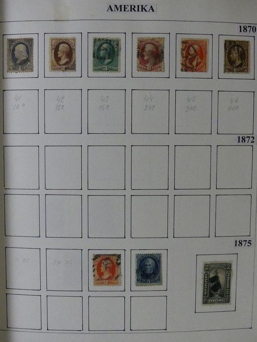 United States of America 1869/2015 - Collection in 2 albums