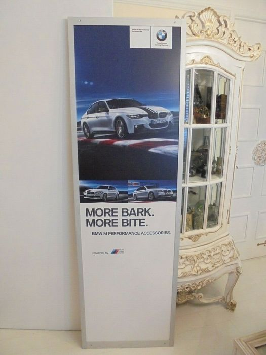 BMW M macht dealer teken - BMW - Genuine Large BMW Dealership Advertising Dealer Sign M Power - Rare - 2009