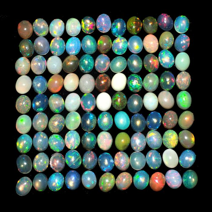 99 pcs mixed colors Opal - 23.55 ct