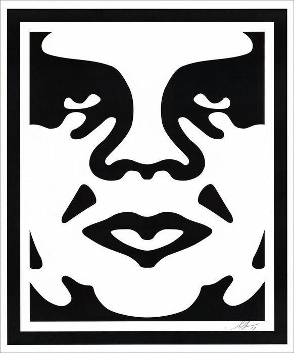 SHEPARD FAIREY (OBEY)  - Face White
