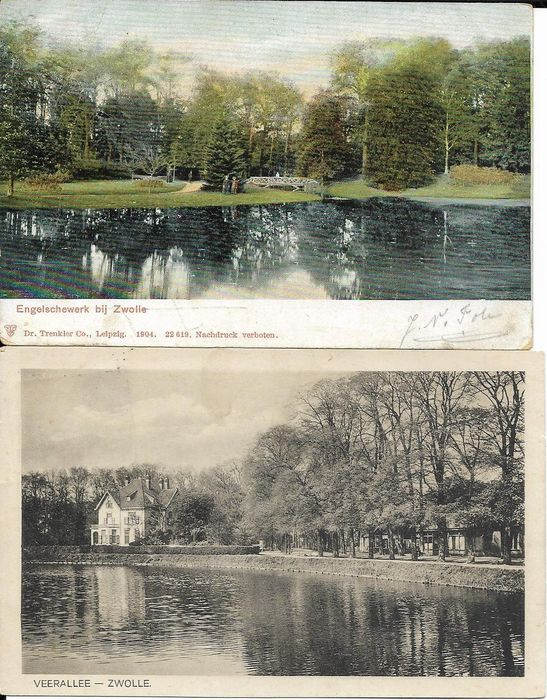 Netherlands, Overijssel, varied collection with also smaller places - City & Landscape - Postcards (Collection of 108) - 1906-1974