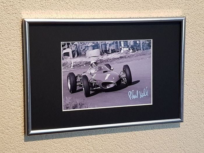 Ferrari Sharke Nose - Formula One - Phil Hill USA World champion Formula 1 - hand signed  framed photograph