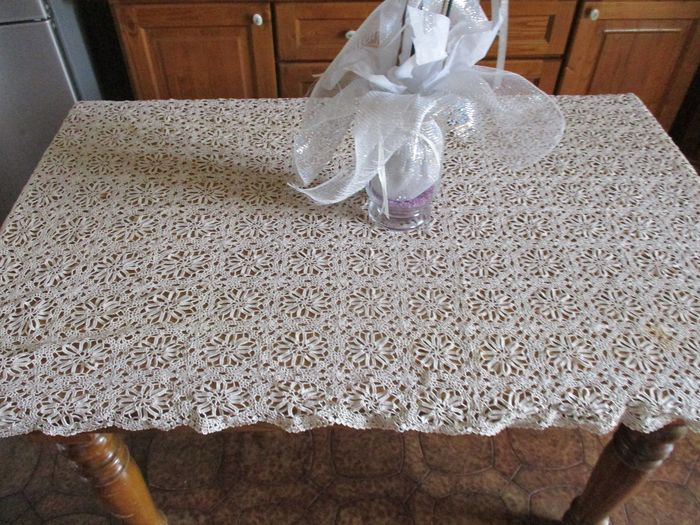 Tablecloth (1) - Ancient wire - 1900