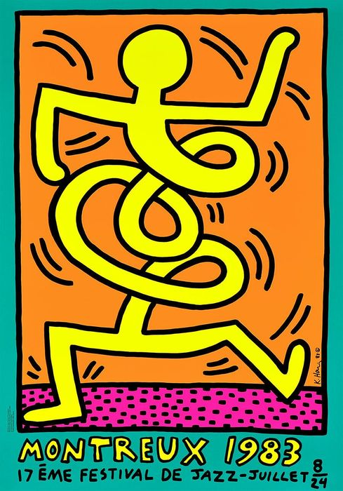 Keith Haring - Montreux Jazz Festival 1983 Green Edge