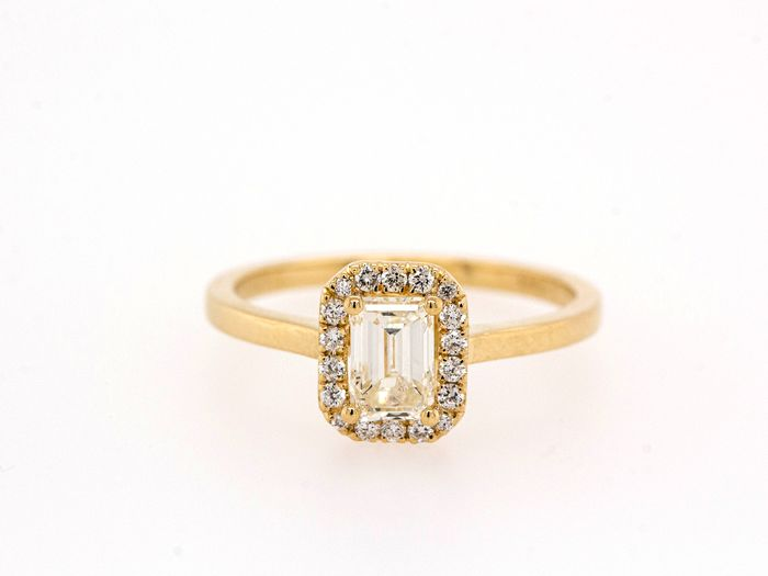 14 kt. Yellow gold - Ring - 0.81 ct Diamond - I - SI2 - No Reserve Price