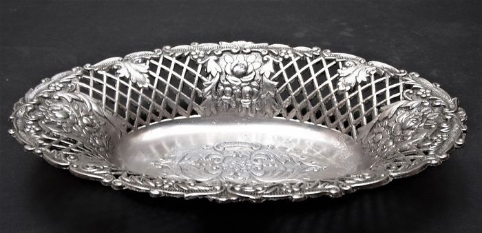 Antique Oval Fruit / Bread Bowl - Silverplate